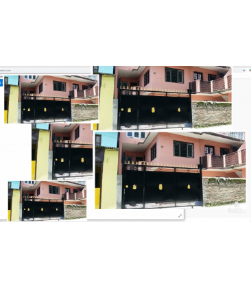 Ghattekula - whole house with 10 rooms and two cars/motorcycle wide road front
